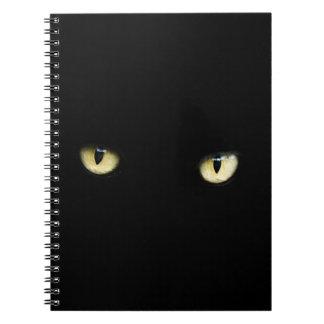 eyes-218185 eyes cat black staring yellow dark spiral note books