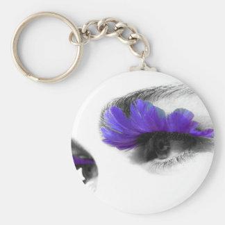 Eyes 4 U Basic Round Button Keychain