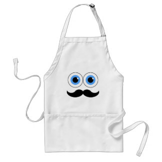 eyes and mustache adult apron