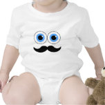 eyes and mustache baby bodysuits