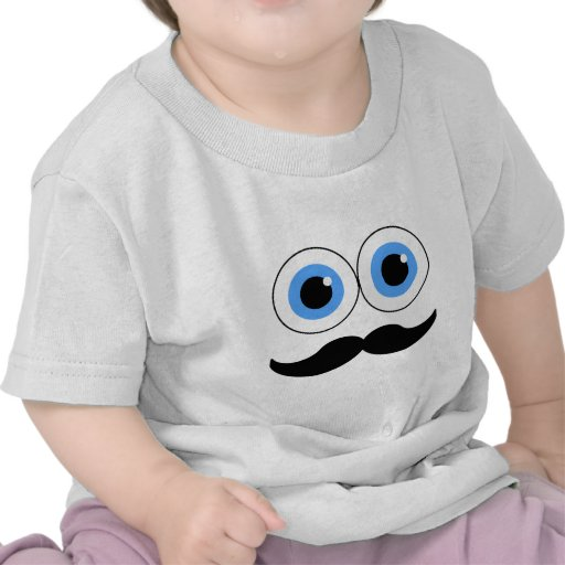 eyes and mustache t-shirt