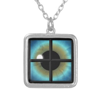 Eyes Are The Windows To The Soul Square Necklace necklace