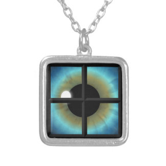 Eyes Are The Windows To The Soul Square Necklace