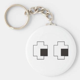 Eyes Basic Round Button Keychain
