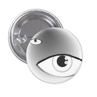 Eyes 1 Inch Round Button