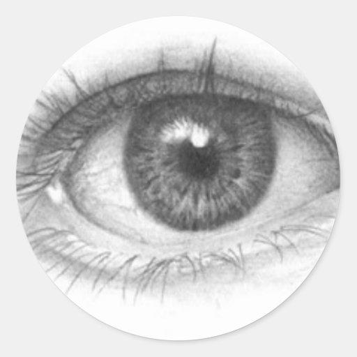 eyes classic round sticker