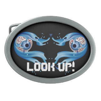 Eyes Customize Edit Change Background Color Oval Belt Buckle