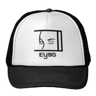 eyes designs mesh hat