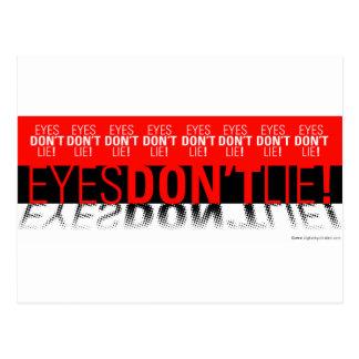 Eyes Dont Lie Postcard