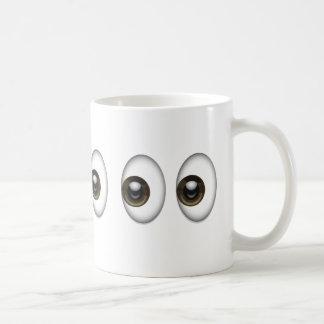 Eyes Emoji Classic White Coffee Mug