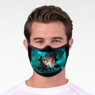 Eyes from another dimension premium face mask