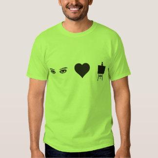 Eyes Heart Art Tee Shirts