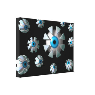 Eyes In Space Gallery Wrapped Canvas