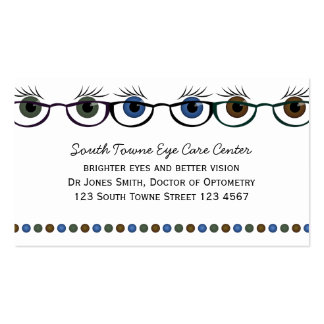 Eyes in Spectacles Business Card Templates