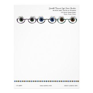 Eyes in Spectacles Letterhead Design