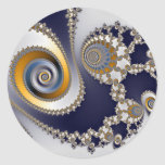 Eyes in the Sky - Fractal Classic Round Sticker
