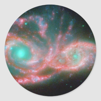 Eyes in the sky NGC 2207 NASA Classic Round Sticker