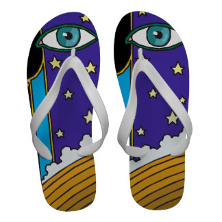 Eyes in the Starry Night Sky Sandals