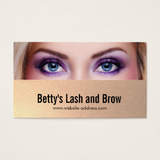 Eyes, Lashes and Brow Add Your Photo Business Card