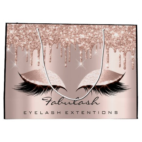 Eyes Lashes Sparkly Drips Makeup  Beauty Bridal Large Gift Bag