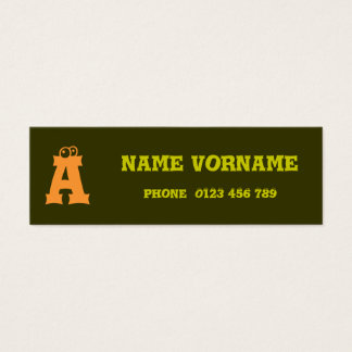 Eyes letters mini business card