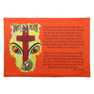 Eyes Like Blazing Fire - Revelation 1:14-18 Placemats