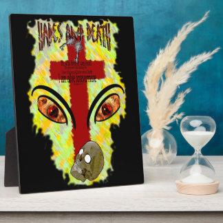 Eyes Like Blazing Fire - Revelation 1:14-18 Plaque