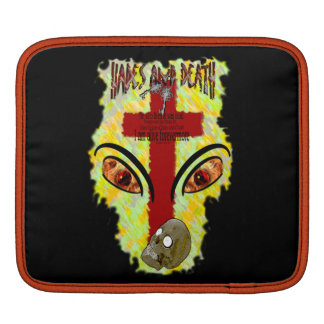 Eyes Like Blazing Fire - Revelation 1:14-18 Sleeve For iPads