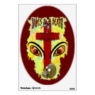 Eyes Like Blazing Fire - Revelation 1:14-18 Wall Decal