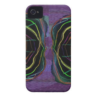 EYES Line Art Alien Sparkle Round Circle Oval iPhone 4 Cover