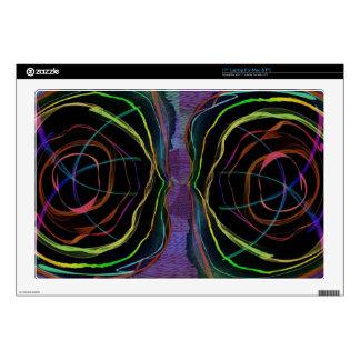 EYES Line Art Alien Sparkle Round Circle Oval Laptop Skins