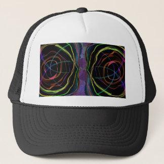 EYES Line Art Alien Sparkle Round Circle Oval Trucker Hat