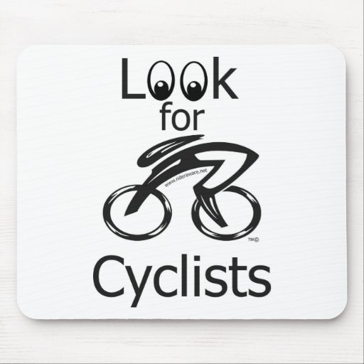 Eyes_Look_for_Cyclists_2 Mouse Pad