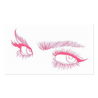 Eyes Makeup Artist Double-Sided Standard Business Cards (Pack Of 100)
