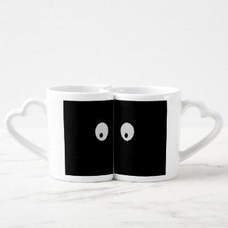 Eyes - My eyes are up here Lovers Mug Set
