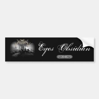 Eyes Obsidian Bumper Sticker