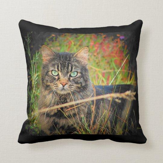 Eyes of a hunter throw pillow