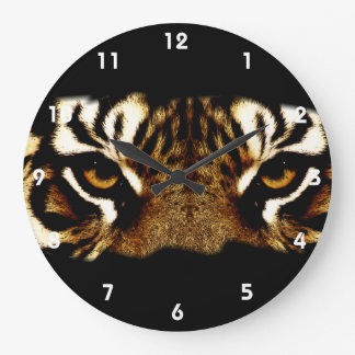 Eyes of a Tiger Large Clock