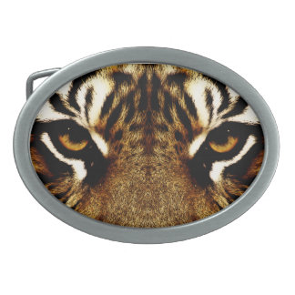 Eyes of a Tiger Oval Belt Buckle