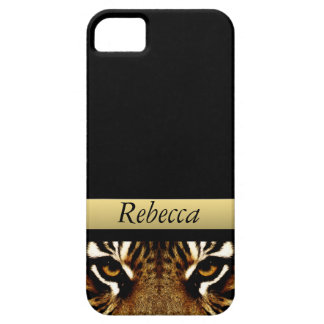 Eyes of a Tiger Personalized iPhone SE/5/5s Case