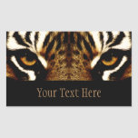 Eyes of a Tiger Personalized Rectangular Sticker