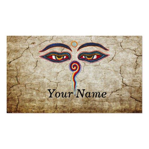 Eyes Of Buddha / Augen der Weisheit Business Card Templates