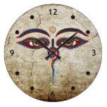 Eyes Of Buddha / Augen der Weisheit Round Wallclocks