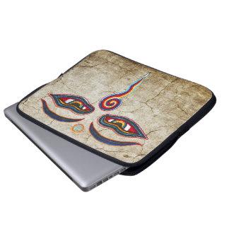 Eyes Of Buddha / Augen der Weisheit Laptop Sleeves