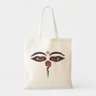 Eyes Of Buddha / Augen der Weisheit Tote Bag