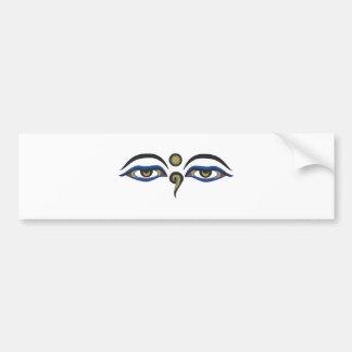 Eyes Of Buddha Bumper Sticker
