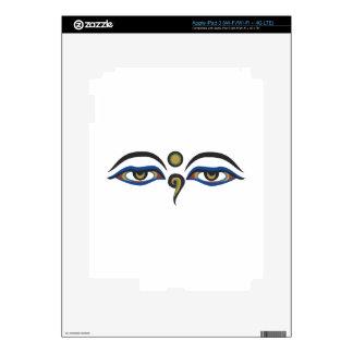 Eyes Of Buddha Decals For iPad 3
