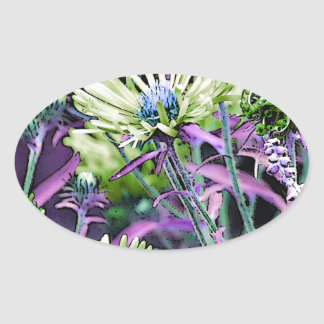 Eyes Of Floral Oval Sticker