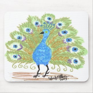 Eyes of India Peacock by Wendy C. Allen Mouse Pad