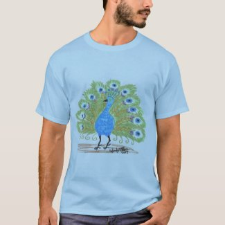 Eyes of India Peacock by Wendy C. Allen T-Shirt